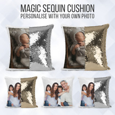 Personalised Sequin Cushion | Magic Mermiad Photo Reveal | Pillow Case & Insert