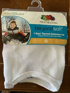Fruit Of The Loom Boys Thermal Underwear Set Size Small 6/7