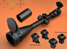 Eagle 6-24x50AO R/G Turrets W/Lock/Reset Mil Dot Rifle Scope W/ 2 Kinds of Rings