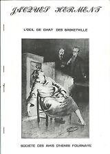 EO PASTICHE SHERLOCK HOLMES + JACQUES HERMENT : L'OEIL DE CHAT DES BASKETVILLE