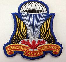 Canadian Airborne Parachutist Jump Patch Crest Insignia Large Full Colour #24650