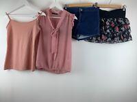 Womens Clothes Bundle Vest Blouse Denim Shorts Skirt  Sz 10 Uk *4