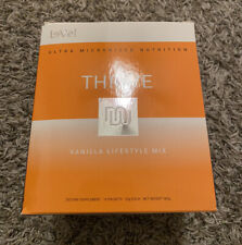 Lot of 2 NEW Le-Vel Thrive Vanilla Lifestyle Mix Shakes 16 Packets Each 32 Total