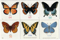 US Butterflies - 6 Single Postage Stamps  # 4462, 4603, 4736, 4859, 4999, 5136