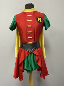 Ladies Robin Costume - Batman & Robin Fancy Dress Cosplay Superhero Size Medium