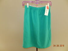 La Bene Vintage Skirt Polyester Green L Large Womens NWT