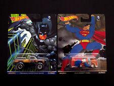 Hot Wheels Volkswagen T1 Panel & Dodge Power Wagon, 2 Die-casts Superman Batman