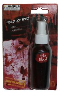 2 Oz. Fake Blood Spray, Costume Makeup, Face or Body Paint for Vampire or Zombie