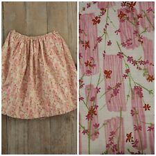 1920's pink skirt girl's clothing pink printed cotton draw string