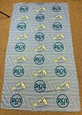 "Vintage Blue Rca Nipper Dog Curtains 75"" X 43"""