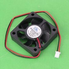 wholesale 100pcs 12V 2Pin 5cm 50mm 50x50x15mm Brushless Cooling Cooler Fan 5015S
