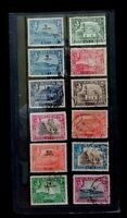 ADEN 1939-1948 DEFINS  12 USED VALUES    G044      Free Shipping