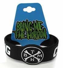 BRING ME THE HORIZON - CROOKED YOUNG BLACK SILICONE WRISTBANDS NEW OFFICIAL BMTH