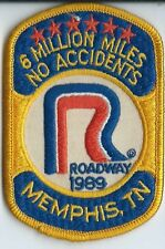 Roadway Express 1989 6 million miles Memphis TN  drivers patch 4X2-3/4 inch