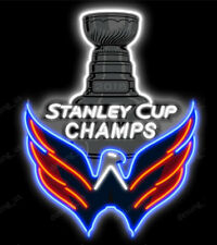 """New Washington Capitals 2018 Stanley Cup Champs Light Neon Sign 24"""" HD Vivid"""