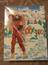 Used Golden Barbie Skiing 100 Piece Puzzle