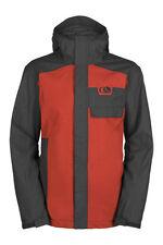 New 2015 Mens Bonfire Kenton Snowboard Jacket Large Black Red Rum