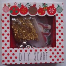 NEW Gift Set - D.I.Y. SCARF for Winter Christmas Holiday CRAFT bells, iron ons