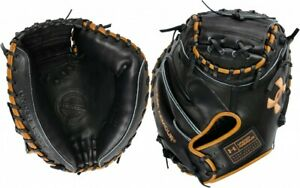 UA Genuine Pro 2.0 Catchers Mitt (34 inch) UAFGGP2-Carmel-Black - RHT