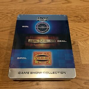 NEW TIN OF DVD GAMES Who Wants to Be a Millionaire Press Your Luck Deal or No De