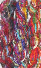 1 quality Recycled Sari Silk Fabric Woven Yarn 1000 Gms