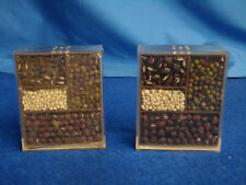Clear Plastic Seed Spice Bean Display Salt and Pepper Shakers Victor Goldman  80
