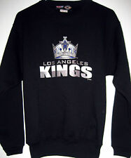 NEW Los Angeles Kings Hockey NHL CCM Center Ice Youth LG Crew Neck Sweatshirt