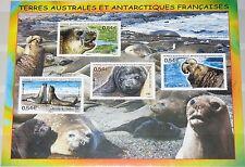 TAAF FSAT 2008 S/S 513A Block 19 Robben Fauna Tiere Animals Sea Elephants MNH