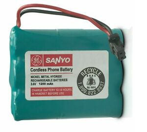 GE Sanyo GES-PCM02 Rechargeable Battery for Cordless Phone Ni-MH 1200mAh 3.6V