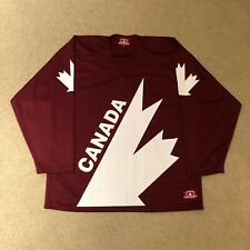 2010 Team Canada Retro Canada Cup Maroon Hockey Jersey Small Canada Athletics