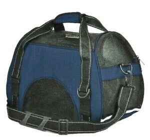 "Dog Carrier Travel Bag Airline Approved L 17"" x W 8"" x H 12"" BLUE Or Best Offer"