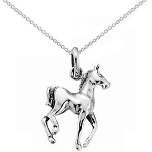 New Childrens Silver Horse Pony Pendant Necklace Equestrian Jewellery