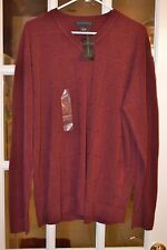 Via Europa Men's V Neck Very Soft Sweater Maroon Size L NEW NWT From Macy's