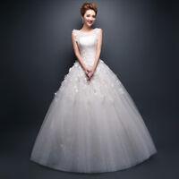 Brautkleid Hochzeitskleid Spitze Kleid für Braut creme weiß Schnürung BC473