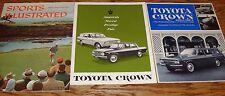 1958-1969 Toyota Crown Sales Brochure Lot of 5 58 59 60 61 62 63 64 65 66 67 68