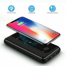 AU 20000mah Qi Wireless Power Bank 2usb Charger External Battery for iPhone XS X