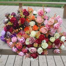 New Artificial Fake Roses Silk Flower Wedding Home Bridal Bouquet Garden Decor