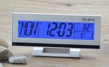 Orologio Sveglia Datario Ds-3618 Termometro Digitale Da Tavolo Lcd linq