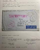 1959 Quan Buu South VietNam Army PO 4002 Airmail Cover to Saigon