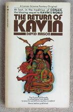 The Return of Kavin (Kavin #2) by David Mason PB 1st Lancer - the lords of night