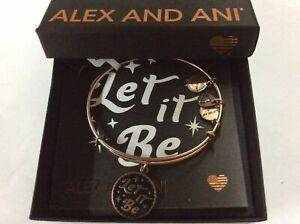 Alex and Ani Let It Be Bangle Bracelet Rafaelian Rose Gold NWTBC