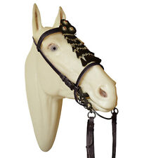 Spanish Portuguese Baroque Leather Horse Bridle with Mosquero by Marjoman