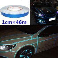 Blue Reflective Pinstripe Stripe Vinyl Tape Sticker Self-Adhesive Car 1cm x 46m
