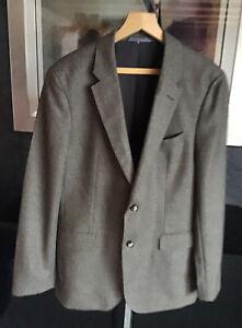 "Tommy Hilfiger Mens Smart Tan Tweed Wool Blazer Brand New Chest 44"""