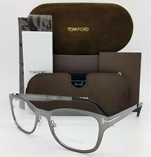 NEW Tom Ford RX Frame TF5474 12A 53mm Gunmetal AUTHENTIC Clip On Grey Sunglasses