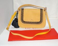NWT Authentic $548 KATE SPADE NEW YORK EBBA ROBSON LANE LUXE Saffron Suede Bag