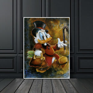 Print Canvas Disney Painting Darren Wilson Scrooge McDuck Home Art Decor 12x16