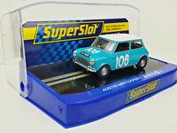 Slot car Scalextric Superslot H3913 Austin Mini Cooper S #106 1962 Targa Florio
