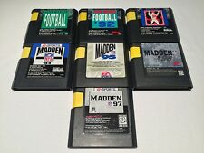 Lot of 7 John Madden Football 92,93,94,95,96,97 (Sega Genesis) Game Cartridge Ex