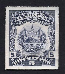 Salvador 1920s stamp 5 pesos proof MNG RRR!!!